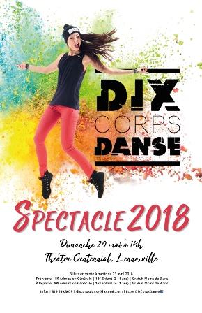 DixCorpsDanse – Spectacle 2018 au Théâtre Centennial