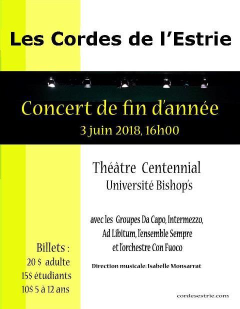 Les Cordes de l'Estrie – Théâtre Centennial