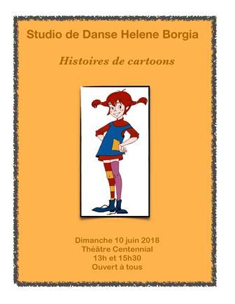 Studio de danse Hélène Borgia « Histoire de cartoons »