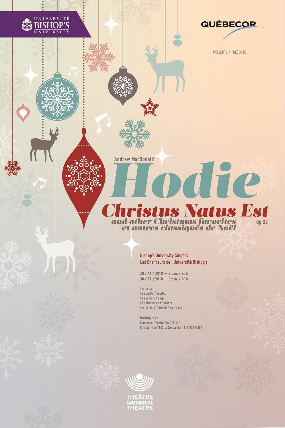 Hodie – Les Chanteurs de l'Université en concert