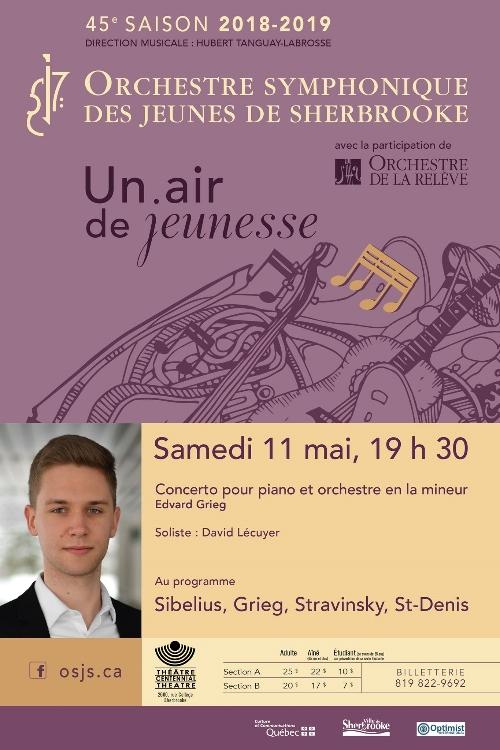 Orchestre symphonique des jeunes de Sherbrooke   Soloist : David Lécuyer
