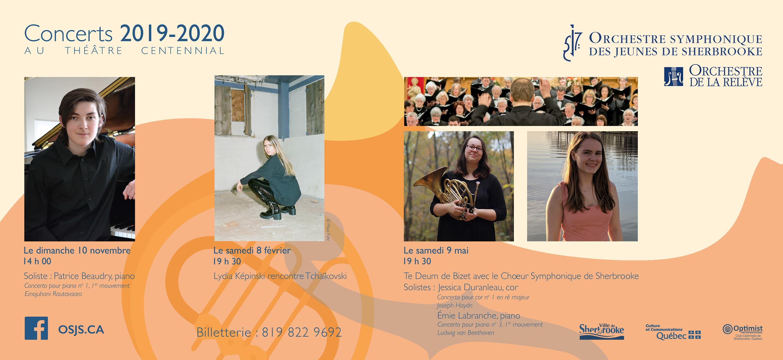 Orchestre symphonique des jeunes de Sherbrooke | 2019-2020 Season Subscription